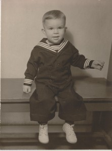 Although innocent looking, young George Markey was known to be mischievous.