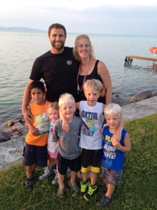 Paul and Melanie Billings and their five children