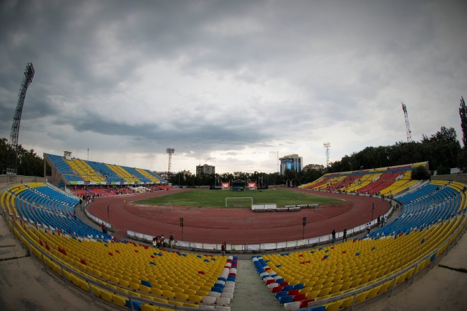 The stadium in Bishkek, Kyrgzstan