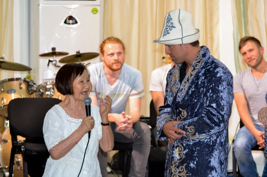 Jeremy presented with traditional Kyrgyz Kalpak