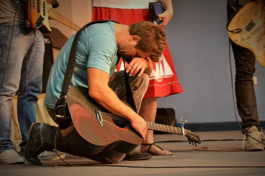 Jeremy brought to his knees over the work of God in His people.